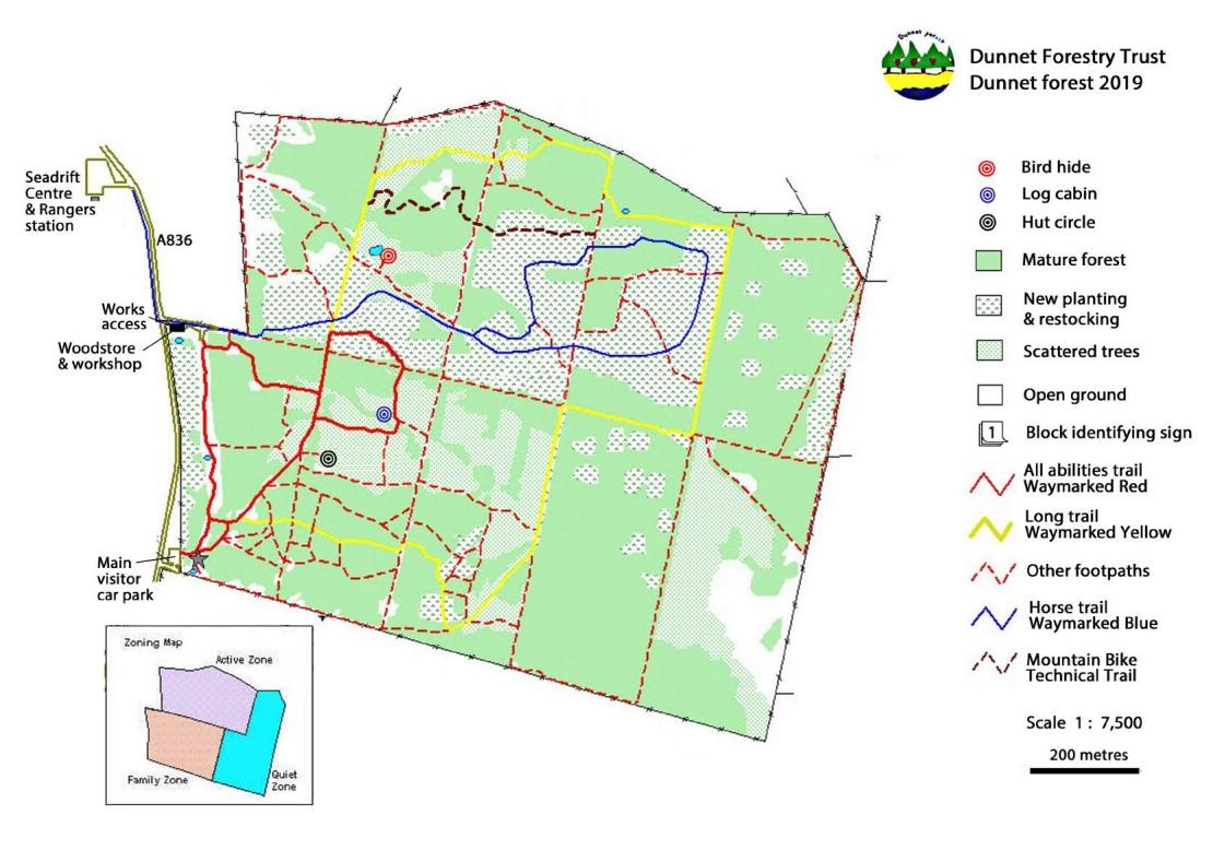 Dunnet Forest Map
